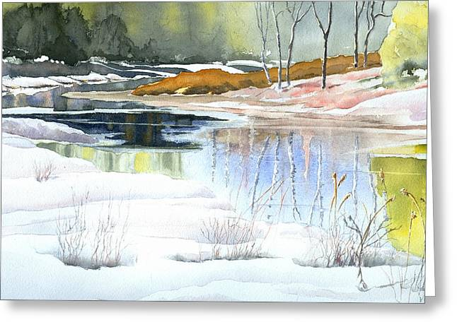 Spring Run-off At Willow Creek Greeting Card by Jo Appleby
