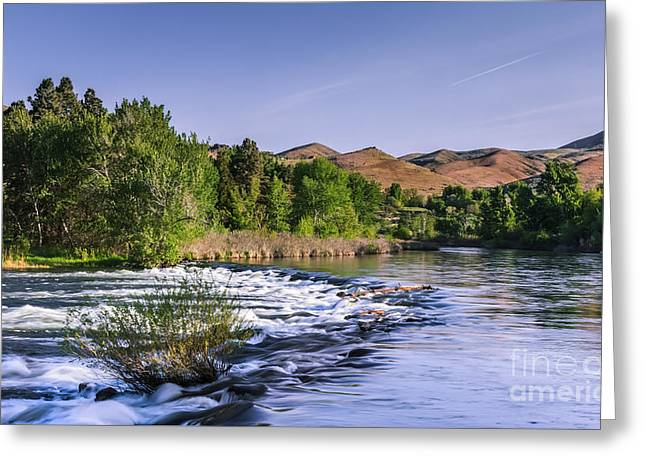 Spring Run Off On The Payette River Greeting Card by Robert Bales
