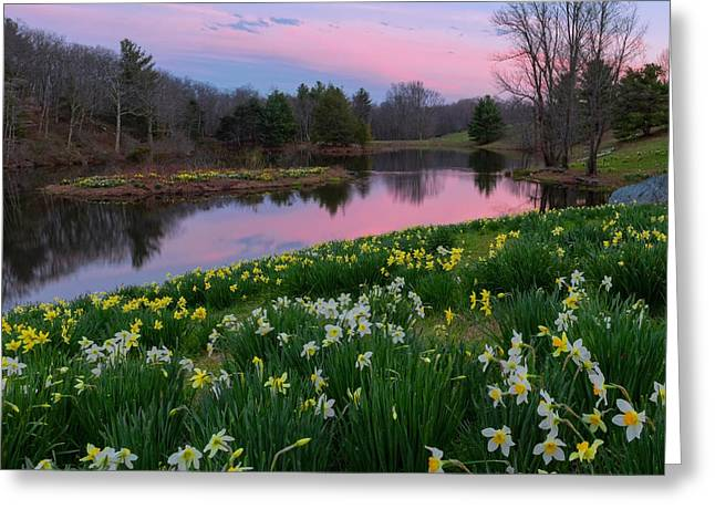 New England Landscape Greeting Cards - Spring Serenity Greeting Card by Bill  Wakeley