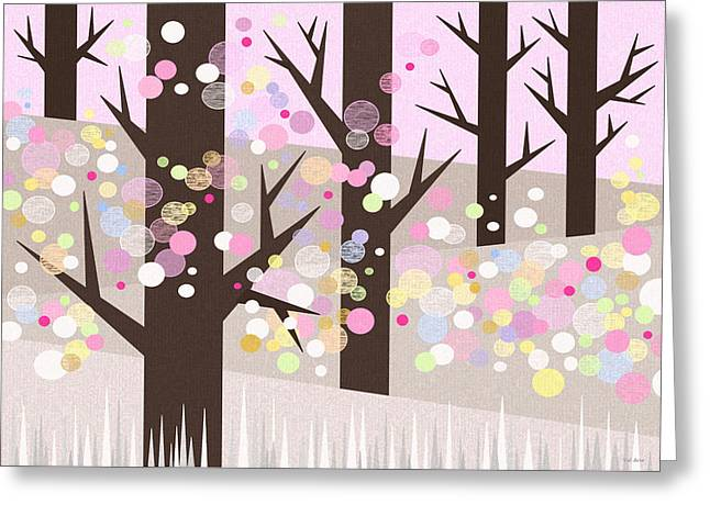 Spring Snow Greeting Card