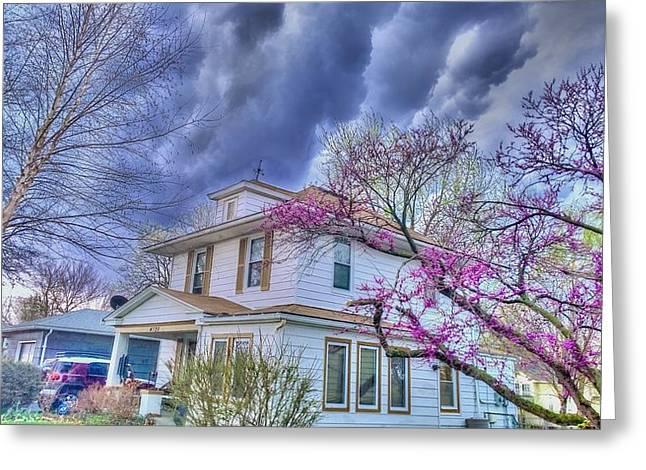 Spring Storm Greeting Card by Larry Bodinson