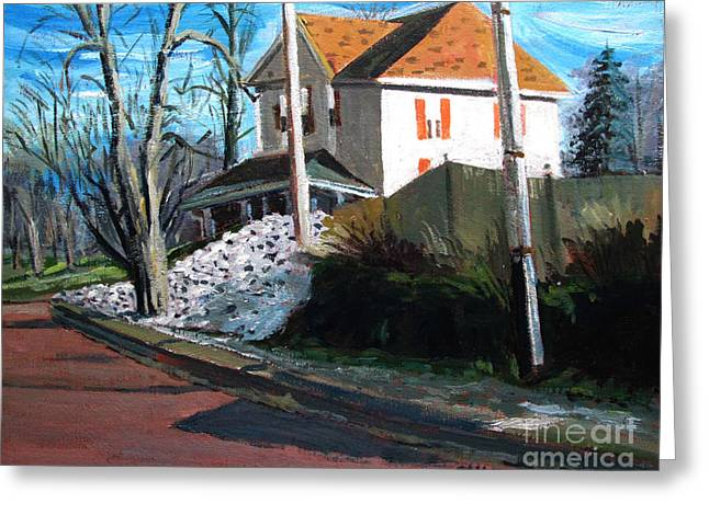 Spring Street Revisited Greeting Card by Charlie Spear