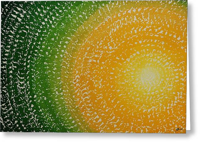 Spring Sun Original Painting Greeting Card by Sol Luckman
