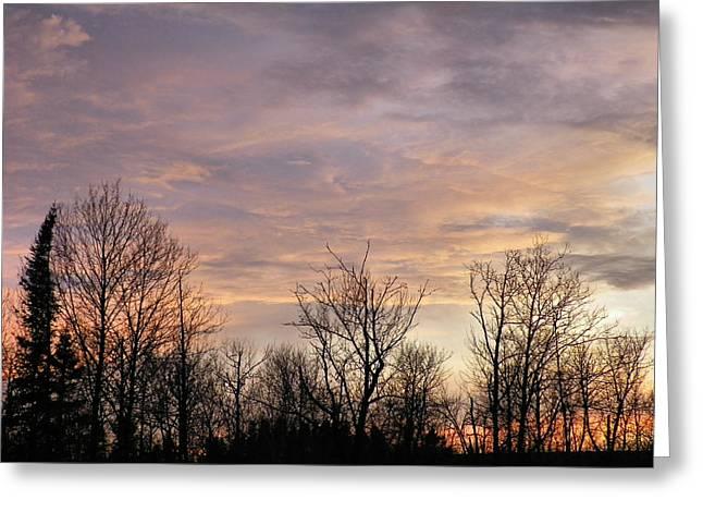 Spring Sun Sets Greeting Card by Gene Cyr