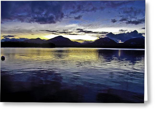 Greeting Card featuring the photograph Spring Sunset by Timothy Latta