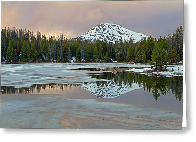 Spring Thaw In The Uinta's Greeting Card by Johnny Adolphson
