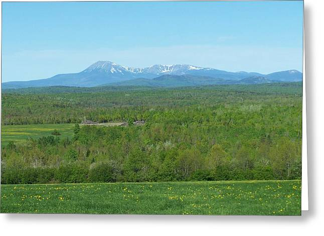 Greeting Card featuring the photograph Spring Time Katahdin by Gene Cyr