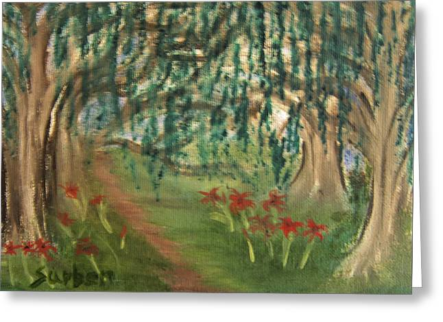 Spring Trail Greeting Card
