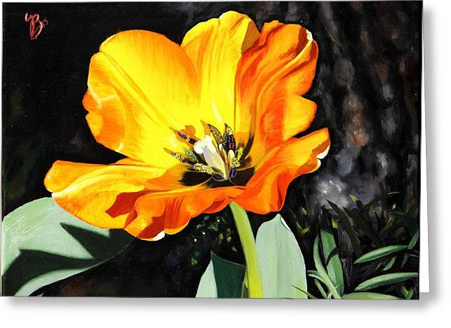 Spring Tulip Greeting Card