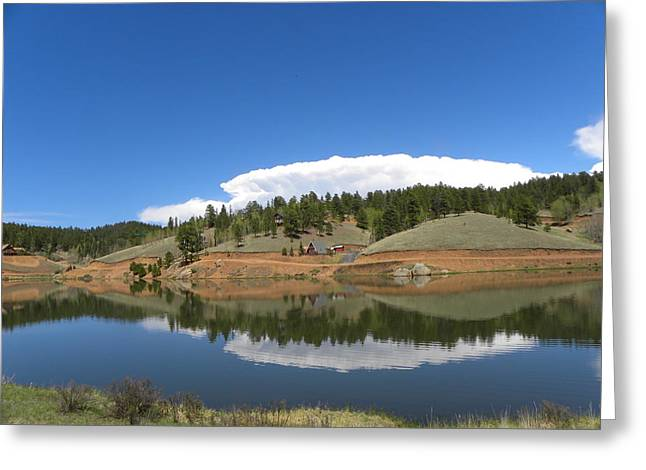 Greeting Card featuring the photograph Ridge Over Burgess Res Divide Co by Margarethe Binkley