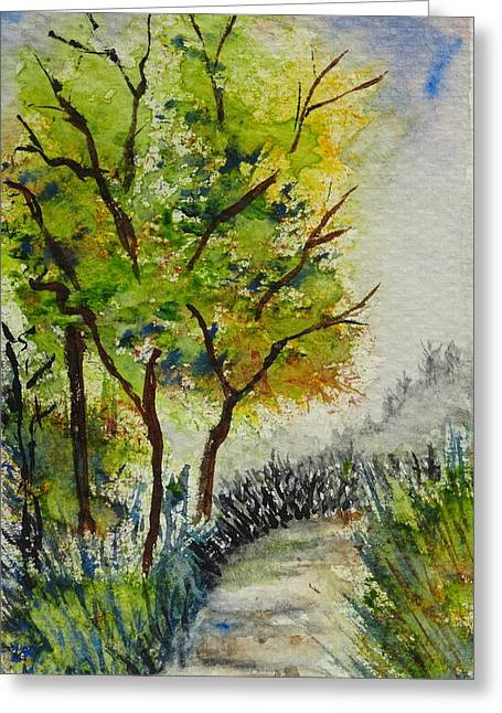 Spring Walk Greeting Card by Catherine Arcolio