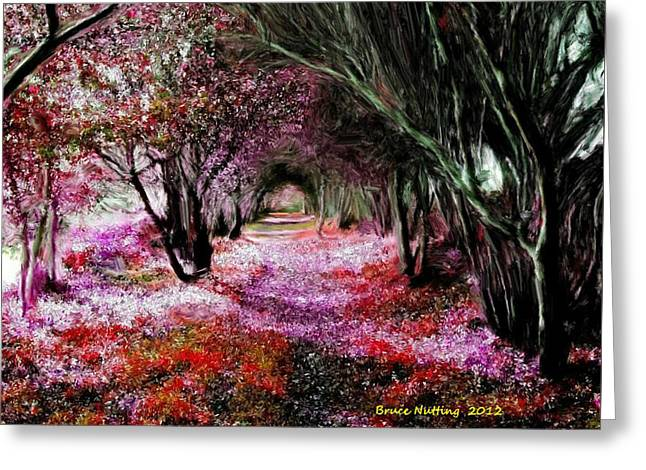 Spring Walk In The Park Greeting Card by Bruce Nutting