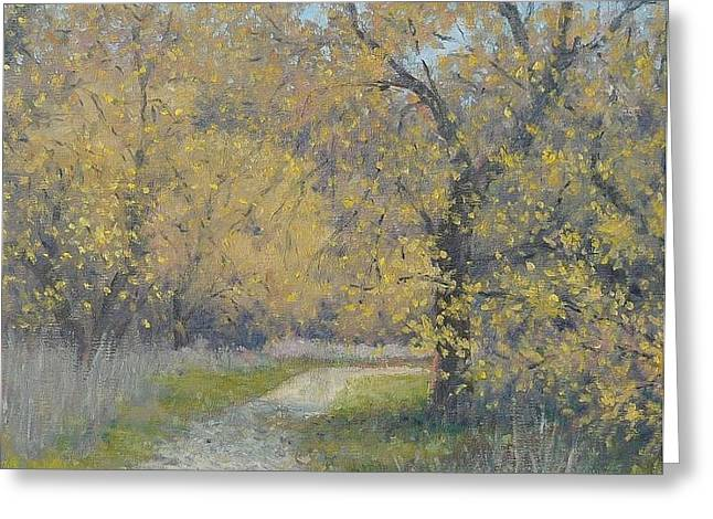 Spring Walk Greeting Card by Marv Anderson