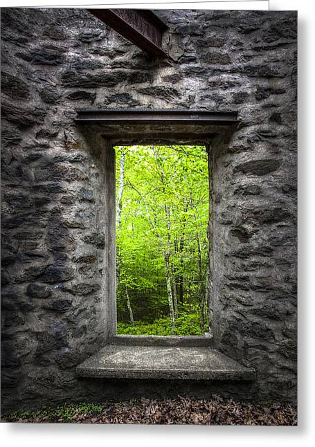 Spring Within Cunningham Tower Greeting Card