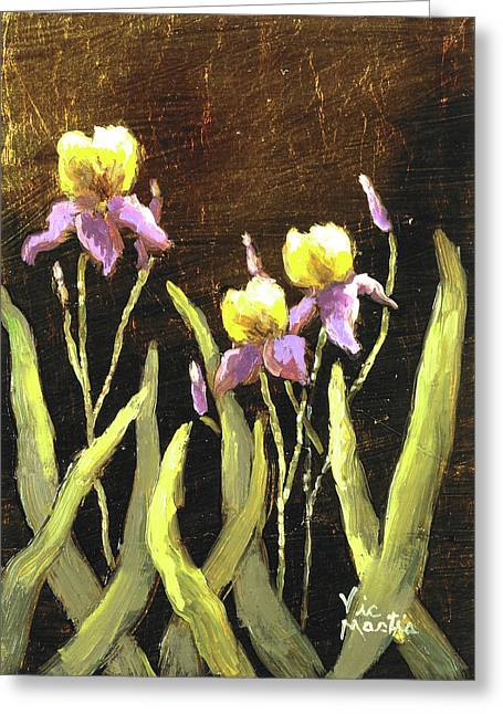 Greeting Card featuring the painting Spring Wonder by Vic  Mastis