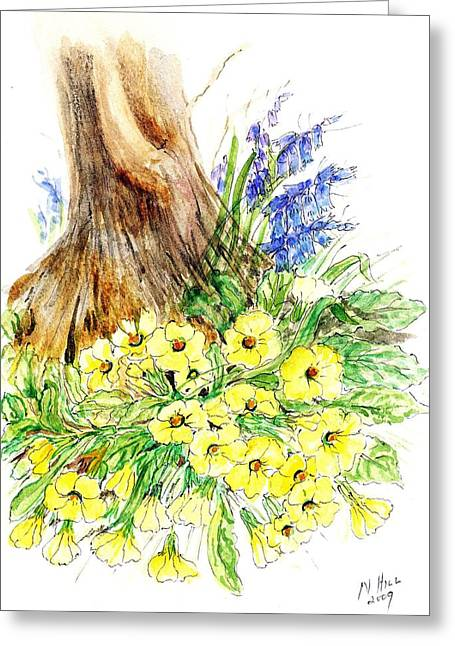 Spring Woodland  Greeting Card by Nell Hill