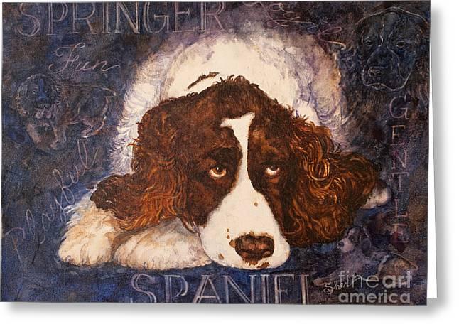 Springer Spaniel - Best Friend Greeting Card