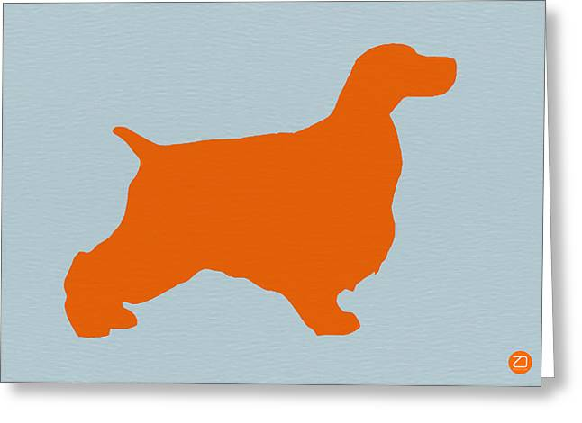 Springer Spaniel Orange Greeting Card by Naxart Studio