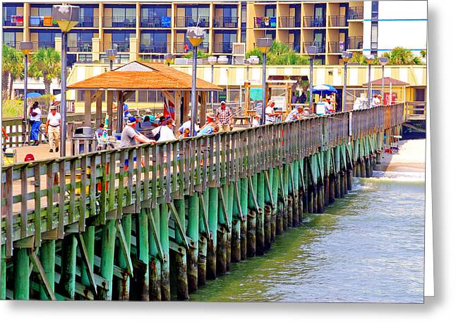Springmaid Beach Pier 2006 Greeting Card