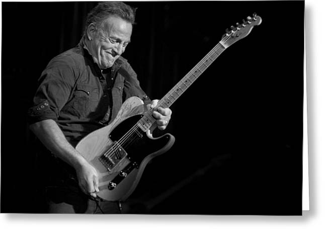 Springsteen Shreds Bw Greeting Card