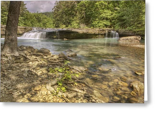Springtime At Haw Creek Falls - Ozarks - Arkansas Greeting Card by Jason Politte