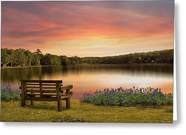 Springtime At The Lake Greeting Card by Nina Bradica