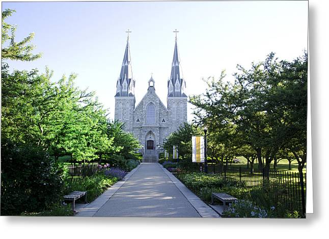 Springtime At Villanova Greeting Card by Bill Cannon