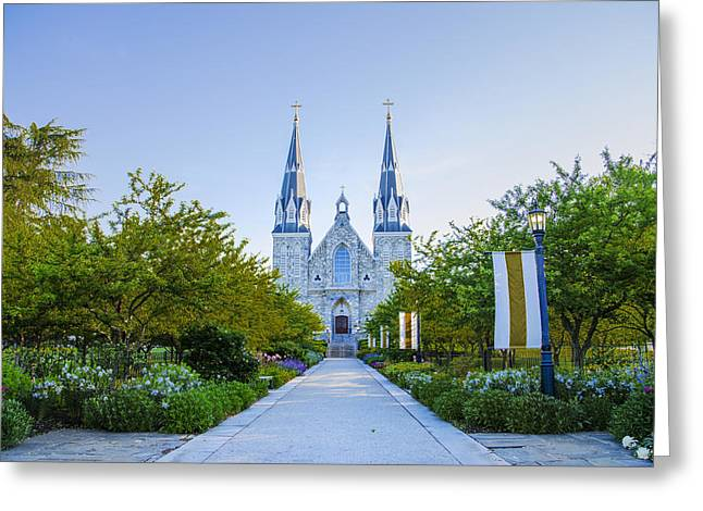 Springtime At Villanova College Greeting Card by Bill Cannon
