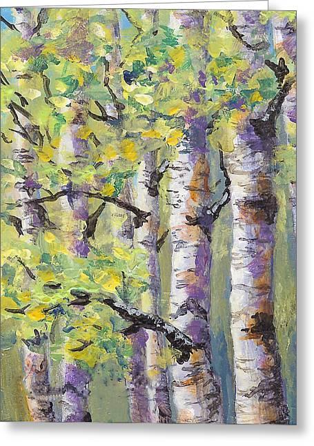 Springtime Birches Greeting Card