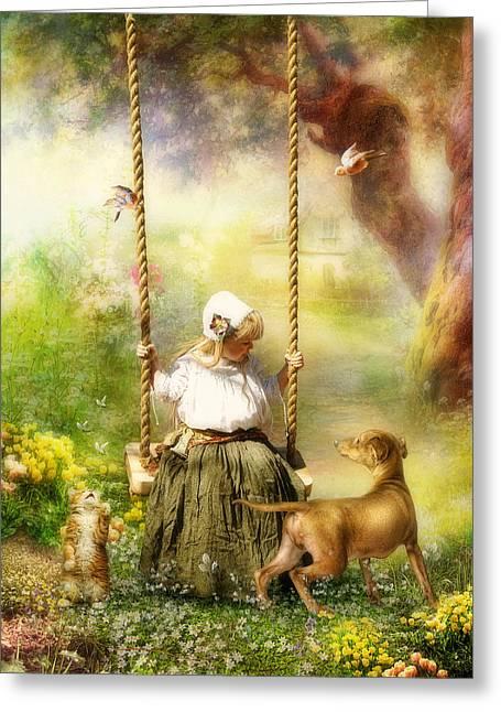 Springtime Greeting Card by Cindy Grundsten