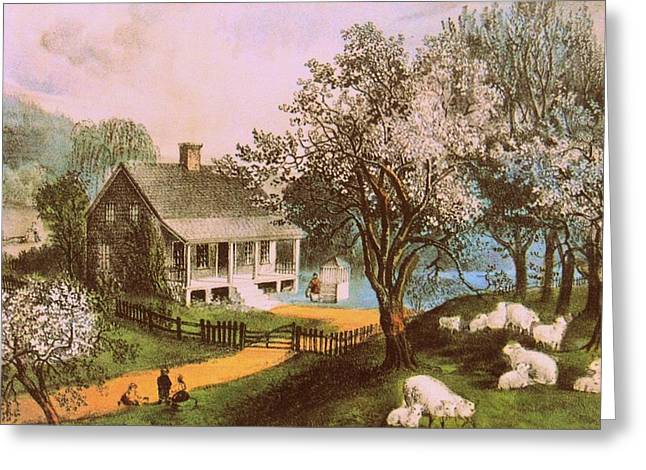 Springtime In New England Greeting Card by JAMART Photography