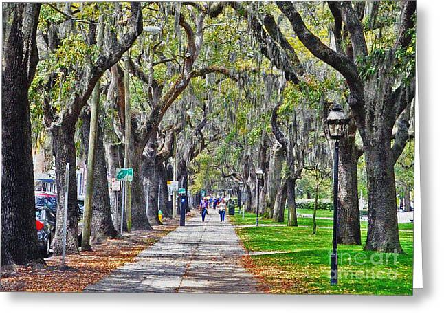 Springtime In Savannah Greeting Card
