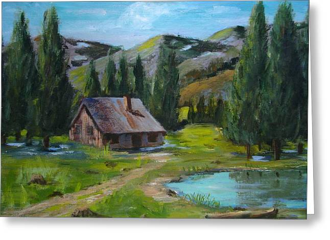 Springtime In The High Country Greeting Card by Judi Pence