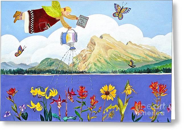 Springtime In The Rockies Greeting Card