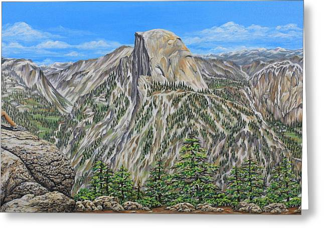 Springtime In Yosemite Valley Greeting Card