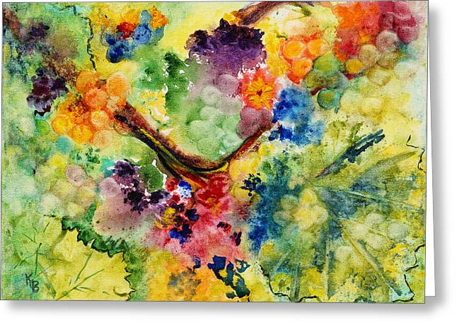 Greeting Card featuring the painting Springtime by Karen Fleschler