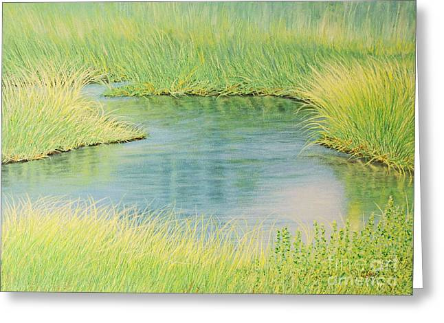 Springtime Marsh-new Beginnings Greeting Card