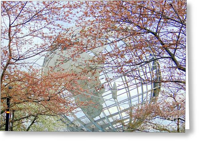 Springtime Round The World Greeting Card by Ed Weidman