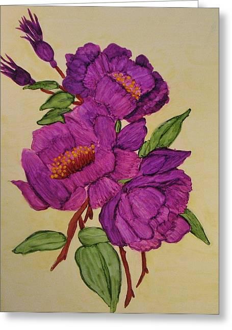Springtime Serenade Greeting Card by Linda Brown