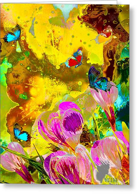 Springtime Splash Greeting Card by Mayhem Mediums