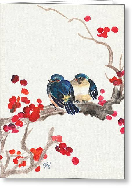 Springtime Sweethearts Greeting Card