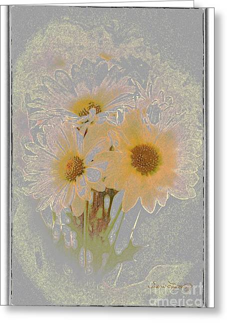 Sprinkled Daisies Greeting Card by Susan  Lipschutz