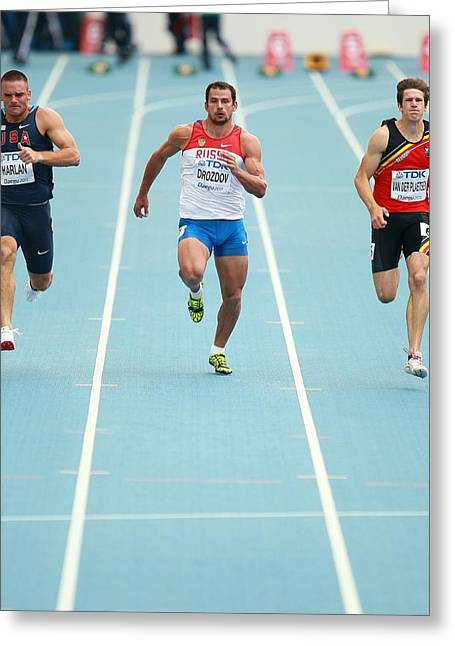 Sprinters Greeting Card by Science Photo Library