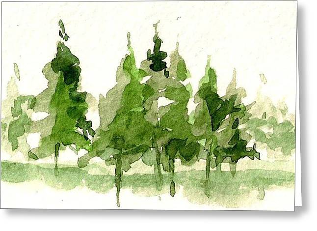 Greeting Card featuring the mixed media Spruce Grove by Tim Oliver