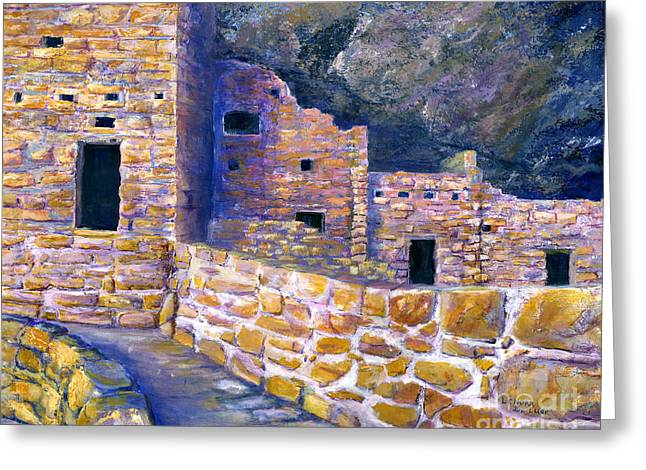 Spruce House At Mesa Verde In Colorado Greeting Card