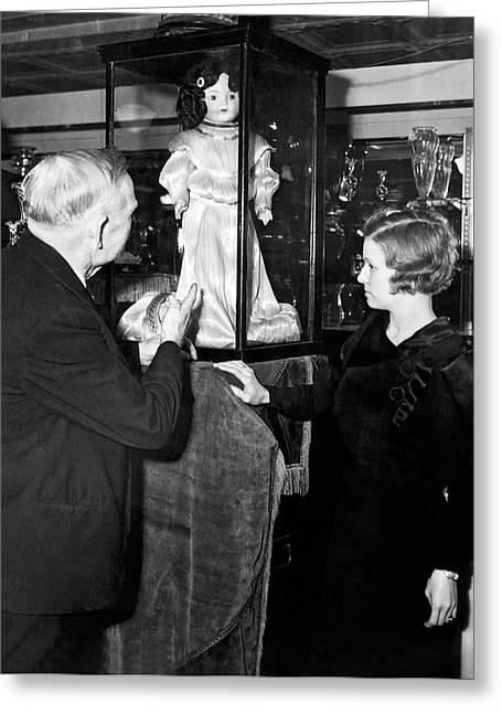 Spun Glass Doll Dress Greeting Card
