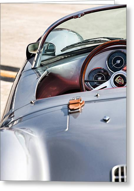 Spyder Cockpit Greeting Card by Peter Tellone