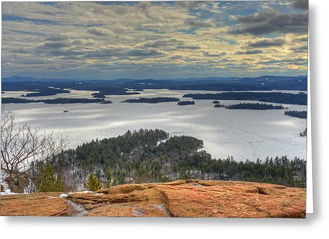 Squam Lake In February Greeting Card