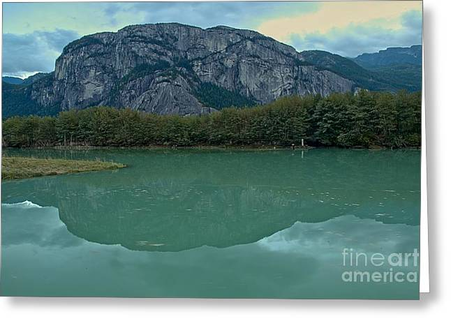 Squamish Chief  Reflections In British Columbia Greeting Card by Adam Jewell