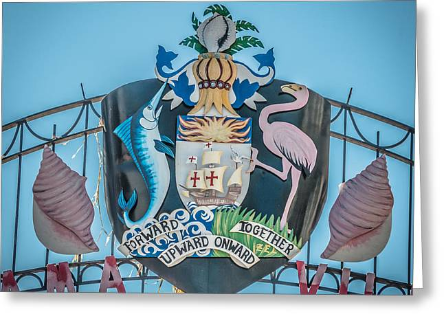 Square Crest Bahamas Village Key West - Hdr Style Greeting Card